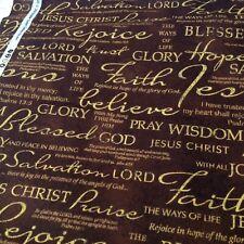 Religious Christian  Faith Belief God Jesus  Cotton fabric 1/4 yard 9