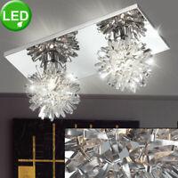 Wohn Ess Zimmer Designerleuchte Alu Geflecht Glas weiß satiniert Decken Lampe
