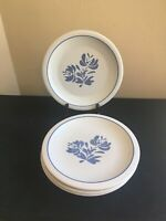 "SET OF 4 Pfaltzgraff YORKTOWNE 10-1/4"" Dinner Plates; USA"