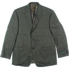 NEW Mens Lauren Ralph Lauren Light Olive Wool Notch Collar Blazer Sportcoat AU46