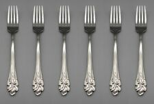 Set Of Six - Oneida Stainless Flatware Amaryllis Dinner Forks * Usa