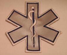 """EMS EMT Emergency Medical Star of Life Blue Reflective Patch 7"""""""