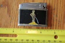 Penguin Lighter Belgium Belgique Vintage black enameled Map & boy peeing design
