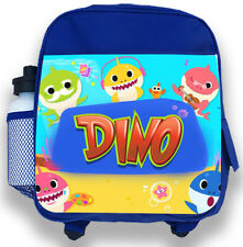 30b330dd19 Personalised Kids Backpack Any Name Baby Shark Boys Childrens Back To School