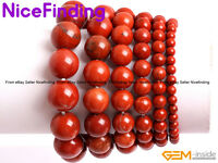 Handmade Natural Red Jasper Beaded Stretch Bracelets Fashion Jewelry Mother Gift