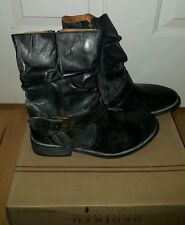 New Women's BED STU Motorcycle Boots FRONTIER Size 6 in Black Glove buckle
