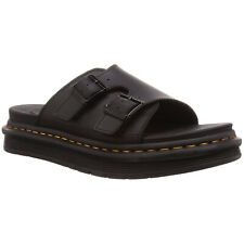 Dr.Martens Dax Hydro Leather Casual Buckles Monk Straps Slides Mens Sandals