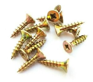SMALL SCREWS 3.0 x 12mm POZI HEADS BRASSED JOINER CABINET MAKER FREE POSTAGE