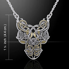 Celtic Knotwork Silver and Gold Necklace by Peter Stone