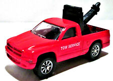 Diecast Red Dodge Dakota Tow Service Truck With Hoist And Hitch, Maisto, 1:64