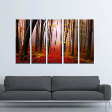 Framed Large Canvas Prints Painting Pictures Home Decor Art Red Forest Landscape