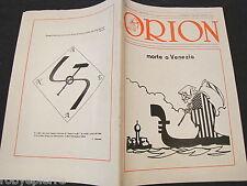 ORION RIVISTA periodico n 6 1987 33 maurizio murelli morte a Venezia Eva Klotz