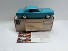 Vintage 1965 AMT Blue Ford Mustang Hardtop Promo With Box Nice