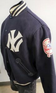 NEW YORK YANKEES BY MITCHELL & NESS WOOL BOMBER JACKET 1961-1964 LOGO LARGE