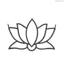925 Sterling Silver Vintage Style Jewelry 2 Ct Diamond Pave Lotus Flower Pendant