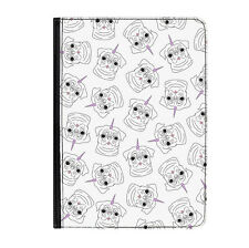 "Pugicorn Pattern Animal Unicorn Pug Universal Tablet 7"" Leather Flip Case Cover"
