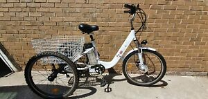 """MAK electric tricycle - White - 17"""" inch Frame- 48hr delivery service"""