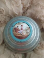 Antique Romantic/Lovers Vanity Powder Jar & Working Music 🎶 Box