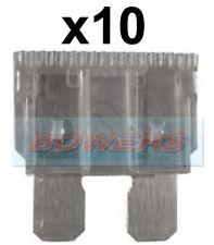 PACK OF 10 12V 24V VOLT 2A AMP GREY STANDARD BLADE FUSES KIT CAR VAN MARINE