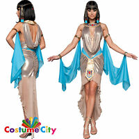 Womens Ladies Egyptian Queen Cleopatra Pharaoh's Treasure Fancy Dress Costume