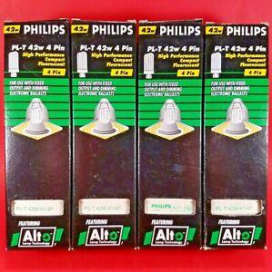 Lot of 4 - PHILIPS PL-T 42W/41/4P 42-Watt 4-Pin Compact Fluorescent Lamp Bulb