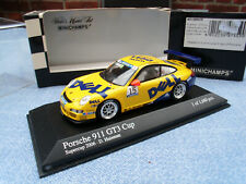Porsche 911 GT 3 Cup Porsche Supercup 2006 in gelb/blau Minichamps M. 1:43,OVP