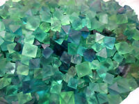 1 lb Beautiful Blue & Green Fluorite Octahedron Crystals - LARGE - Bulk Lot