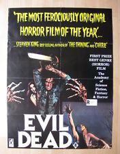 EVIL DEAD 1983 Rare Australian movie poster cult horror Sam Raimi zombie slasher