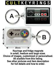 NES & SNES keyring / fridge magnet - Controller, Console, Super Nintendo System