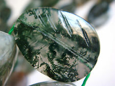 "15x20mm Leaf Shape Moss Agate 15""-16"" INCH Stones Beads #"