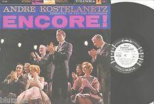 ANDRE KOSTELANETZ~ encore~ LP  CS 8008 6 Eye Stereo Columbia Vinyl PROMO NM-/VG+
