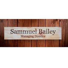 Personalised Door Sign Number Plaque Name Desk Plate Room Hotel Office 30 x 7 cm