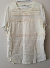 Womens Country Road Top Size Small (8 - 10?) 100% Silk And Raffia Trim