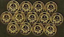 Pièces de monnaie françaises de 1 franc sur Napoléon
