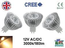 MR16 LED 3W LED CREE LAMP 12V AC/DC 3000K WARM WHITE