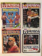 Lot of 4 1993 Pro Wrestling Illustrated PWI May Jun Jul Aug Flair Hogan WCW WWF