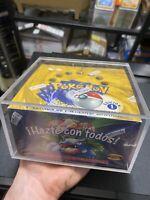 💎BEAUTIFUL 1st Edition Pokémon Base Set Box - Spanish W/ Wrapper (No Cards) 💎