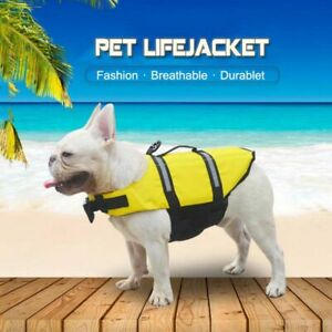 Pets Dog Reflective Safety Clothes Life Jackets Polyester Pet Wear Accessory New
