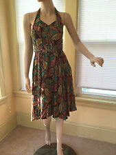 NWT Anthropologie Aryeh Halter Fit & Flare belted Sun Dress Sz S unique rare new