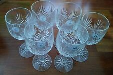 """4 (Four) IRENA POLAND PINAPPLE 24% Led Clear Crystal WINE Glasses 7"""""""