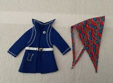 Pedigree Sindy Doll  Winter Coat and Scarf 1970's
