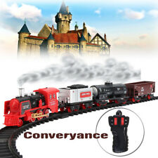 Classic Toy Electric RC Remote Control Train Set Real Smoke and Sounds Kids Toy