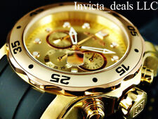 Invicta Mens 48mm Pro Diver Scuba Chronograph 18K Gold & Rose Plated 2Tone Watch
