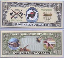 Commemorative US Hunting Bill with Protector Wildlife Deer Duck Squirrel Bear