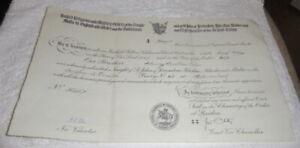 Vintage Masonic certificate, Knights Templar, Malta dated 1965