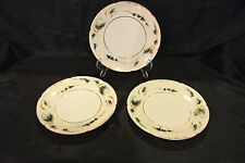 "3 Theodore Haviland Limoges France Gold Trim with Green Dessert Plates 7-1/2""~ 3"