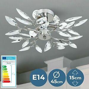 Deckenleuchte Acryl Blätter LED Deckenlampe Kronleuchter Design Wohnzimmer Lampe