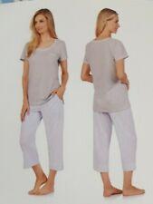 "3 Piece Carole Hochman Blue Pajama Set Capri Short Top  Plus  2XL   50"" BUST"