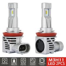 Pair H8 H9 H11 LED Fog light Headlight Bulb Kit 55W DRL Headlamp 6000LM White