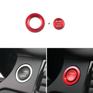 Red Engine Start Buttons Ring Cover Trim For Land Rover Discovery Sport Evoque